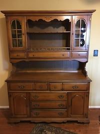 Solid Maple China Hutch Alexandria