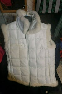 white and gray fur-lined zip-up jacket Cadillac, 49601