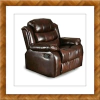 Burgundy recliner chair free delivery McLean