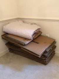 26 Moving boxes and wrap paper