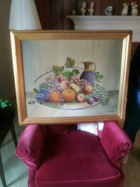 brown wooden framed painting of fruits Portsmouth, 23704
