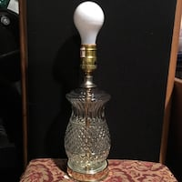Vintage Glass Table Lamp Baltimore, 21206