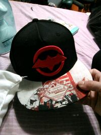 black and red Superman fitted cap East Los Angeles, 90022