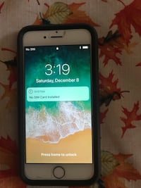 silver iPhone 6 with black case Elmwood Park, 60707