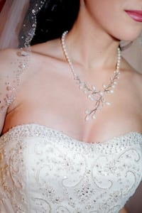 Bridal Pearl and Crystal Necklace, Jewelry Toronto, M6S