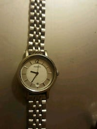 round silver analog watch with link bracelet Calgary, T2A 5L2
