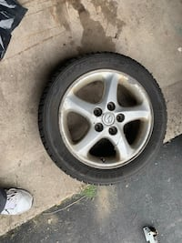 "Madza 16"" aluminum Rims set of 4 Tires not good can be usable Mississauga, L5R 2T6"