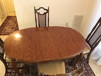 oval brown wooden dining table Manassas, 20109