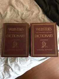 Vintage 1960 second edition  Webster's new twentieth century Dictionary Gatineau, J8R 2L5