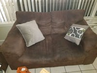 brown suede 2-seat sofa McAllen
