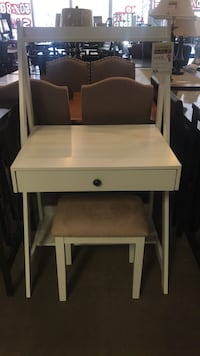 White Wooden Desk With Stool  Phoenix, 85018