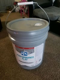 FIVE GALLONS OF PPG PERFORMANCE FLAT (ANTIQUE WHITE)