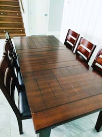 Wood Dining table with 6 chairs  Surrey, V4N 1G8