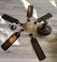 two brown wooden 5-bladed ceiling fans Richardson, 75080