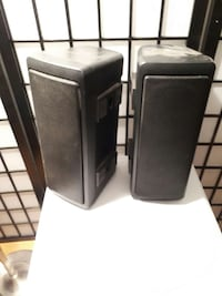 two black stand speakers Hawkesbury, K6A