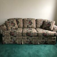brown and red floral 3-seat sofa Wilkes-Barre, 18702