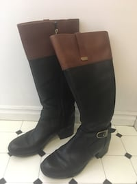 Pair of black leather knee-high boots Taylorsville, 84129