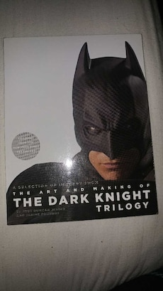 Dark knight trilogy DVD set with a making of book