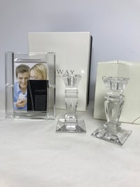 Galway Irish crystal picture frame and candlesticks Foristell, 63348