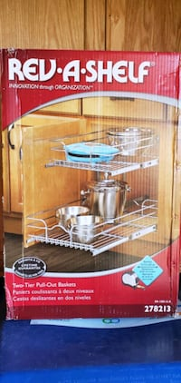 Rev-A-Shelf 2 tier pull out baskets for cabinets Davenport, 52806