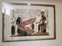 Egyptian pictures hand painted on canvas framed