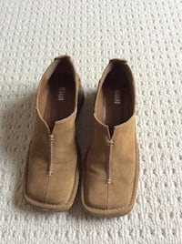 Pair of brown suede slip-on shoes size 7 made in Italy  Markham, L3R 9N2