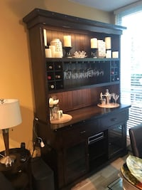 Buffett Hutch with nailhead detail. Excellent condition.