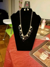 silver-colored necklace with earrings Gaithersburg, 20877