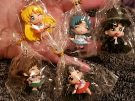 Brand new Sailor moon adorable chibi style keychains for Christmas