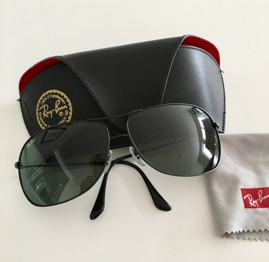 Ray Ban pilot, sotet sort