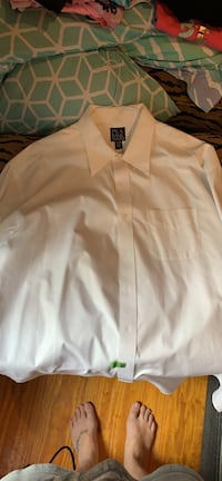 Men's white button up collared shirt Wilmington, 28412