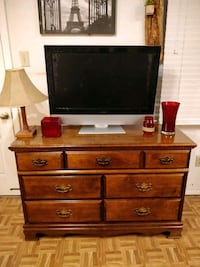 Nice solid wood dresser/TV stand with big drawers  Annandale, 22003