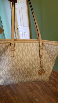 brown Michael Kors tote bag