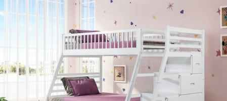 Twin/Full Staircase Bunkbed