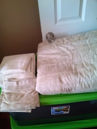 Tan full size bed set Fall River, 02721