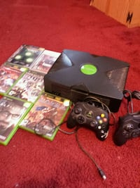 Original Xbox with games and controllers  Red Deer, T4P 2C7