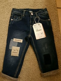 blue denim straight cut jeans Toronto, M9V 3J4