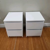 (2) white 2 dr nightstand side table end table Capitol Heights, 20743