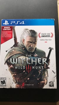 Sony PS4 The Witcher Wild Hunt game case Providence, 84332