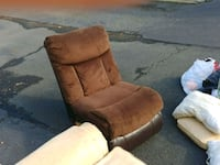 brown suede recliner sofa chair Joint Base Andrews, 20762