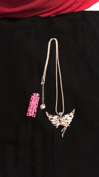 NWT Betsey Johnson Opal Winged Fairy Necklace  Laurel, 20723