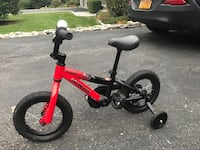 Children's black and red training bicycle  Somers, 10589