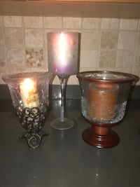 3 large candle holders for $10 Toronto, M2N