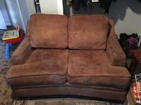 brown suede 2-seat sofa Windsor, 06095