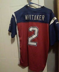 red and blue Whitaker 2 football jersey Deux-Montagnes, J7R 6T4