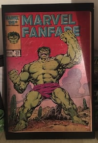 The incredible hulk 3x2 black wooden frame Miami, 33126