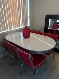 50s inspired dining table with 6 matching chairs OBO Beverly Hills, 90211