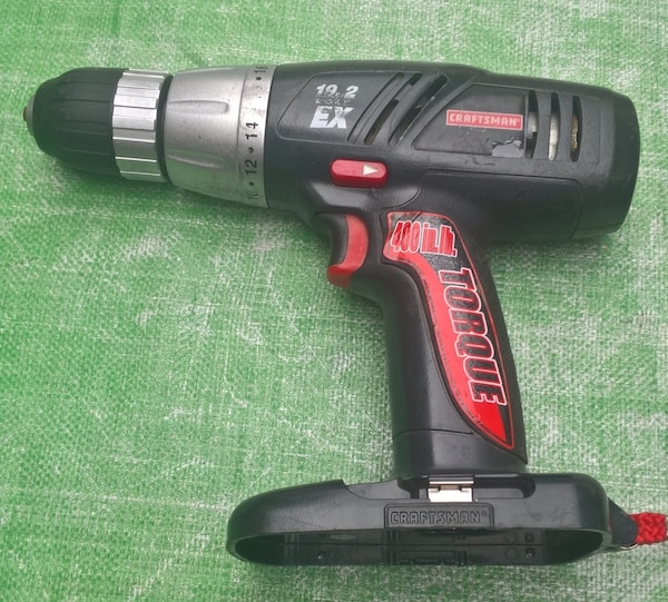 Used Craftsman C3 19 2 V Volt 1 Cordless Drill Driver 400 In Lb Torque No Battery Or Charger Included Works Good Pre Own For Bristol Letgo