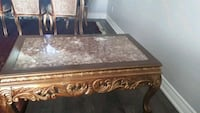 brown wooden framed glass top coffee table Ajax, L1S 6J1