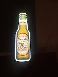 Yuengling neon bottle bar beer neon sign Olmsted Falls, 44138